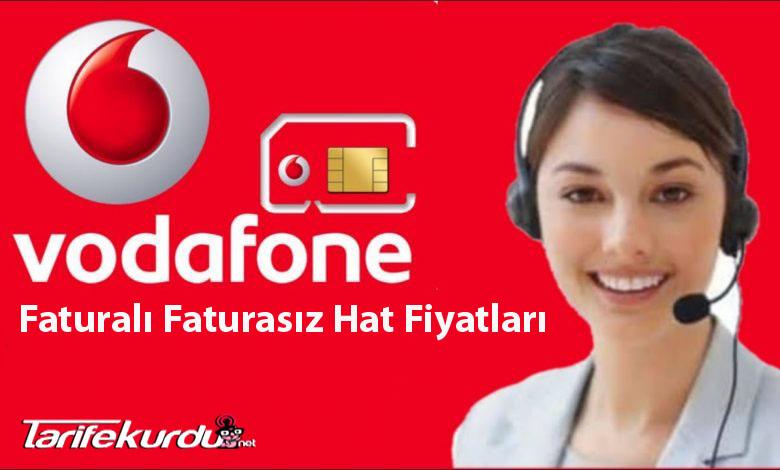 Vodafone Faturalı, Faturasız Hat Fiyatları
