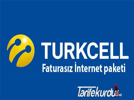 Turkcell Faturasız İnternet Paketi