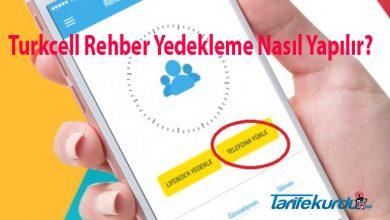 Turkcell Rehber Yedekleme