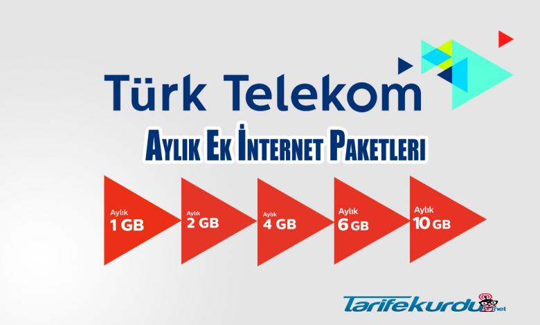 Türk Telekom Faturasız İnternet Paketleri