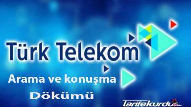 TurkTelekom Arama ve Konuşma Dökümü
