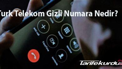 Turk Telekom Gizli Numara