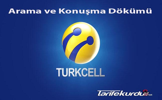 Turkcell Arama ve Konuşma Dökümü