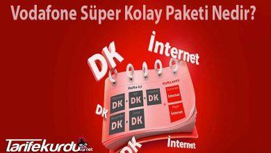 Vodafone Süper Kolay Paketi