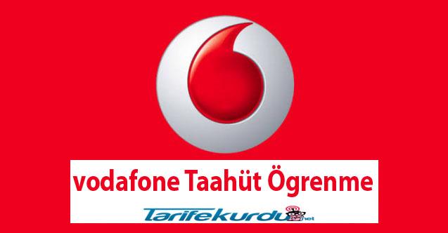 Vodafone Taahhüt Öğrenme